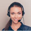 Call center girl image